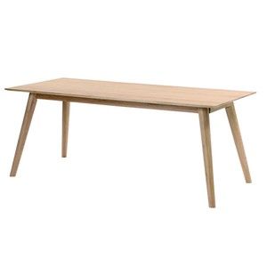 Natural Oak Solid Wood Dining Table