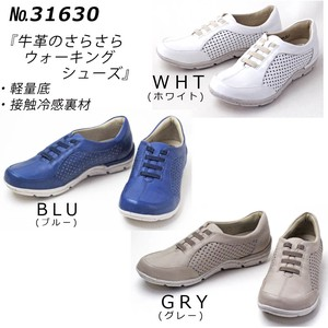Effect Attached Cow Leather Walking Shoes S/S