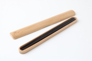 Slim Compact Usability Wooden Chopstick Chopsticks Box Set