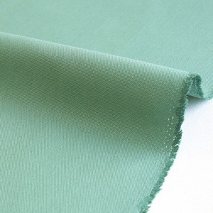 Fabric Cotton Plain Canvas Milk Green Canvas Fabric Unit Cut Sales