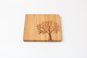 Natural Material Tint Natural Coaster Big Tree