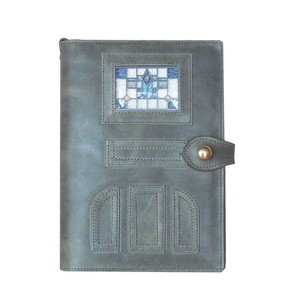 Notebook Cover Genuine Leather Glass