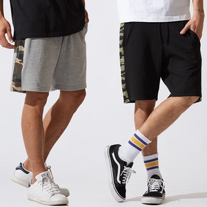 Men's Dazzle Paint Line Sweat Shor Pants Half Pants Shorts