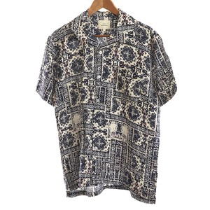 Rayon Repeating Pattern Short Sleeve Open Shirt