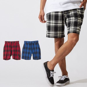 Men's Tartan Check Shor Pants Half Pants Shorts