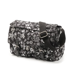 Damage Processing Denim Material Floral Pattern Print Bag