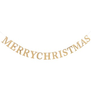 Gold Merry Christmas Land Wall Hanging Product Display
