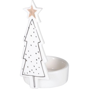 White Tree Holder Christmas Fancy Goods Display Decoration