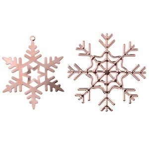 Copper 4 Pcs Christmas Display Crystal