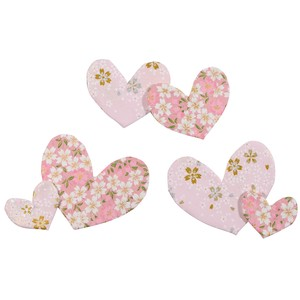 Japanese Paper Heart Set Pink 6 Pcs New Year Fancy Goods