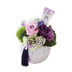 花鞠(はなまり) プリザーブドフラワー 供花アレンジメント 2コ入り
