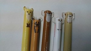 mimi 2 Colors Ballpoint Pen Fox Japanese Raccoon Owl Hedgehog