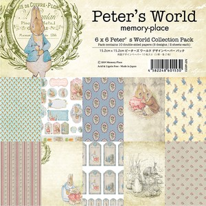 【memory place】MP-60153 6x6 Peter's World Collection Pack 10枚入り