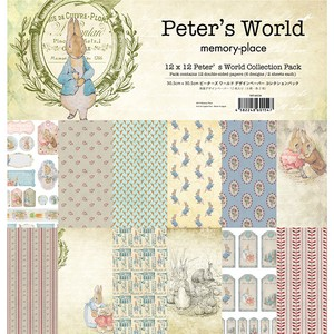 【memory place】MP-60154 12x12 Peter's World Collection Pack 12枚入り