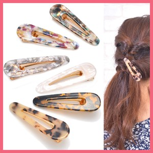 Marble Triangle Hair Clip