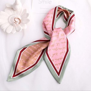 Unisex English Character Long Scarf Ribbon 3 Colors
