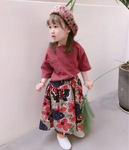 3995423b4959a 女の子 Tシャツ 花柄 ワイドパンツ セット キッズ カジュアル 可愛い