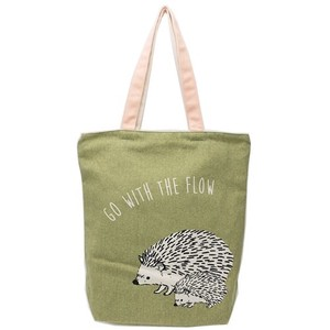 Parent And Child Zipper Top Canvas Tote