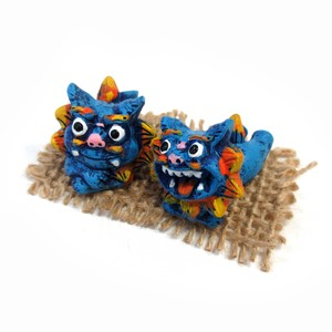 Interior Accessory Objects Okinawa Ornament Good Friends Lying Down Blue