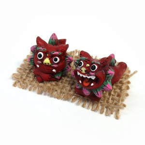Interior Accessory Objects Okinawa Ornament Good Friends Lying Down Red