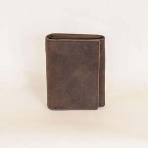 All Leather Wallet Cow Leather Men's Ladies Brown