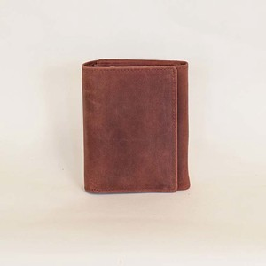 All Leather Wallet Wine Cow Leather Men's Ladies Wine Red