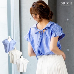 S/S Top Bag Ribbon Pleats Shirt