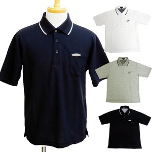 Men's Line Short Sleeve Kanoko Plain Polo Shirt Checkered Short Sleeve 4 Colors
