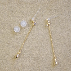 Chain Falling Resin Post Pierced Earring