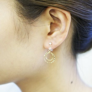 Hoop Falling Resin Hall Earring
