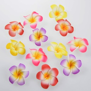 Frangipani Sponge Artificial Flower Color Mix