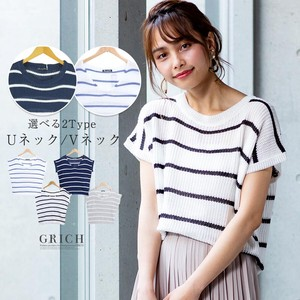 S/S Top type Watermark Border Summer Knitted