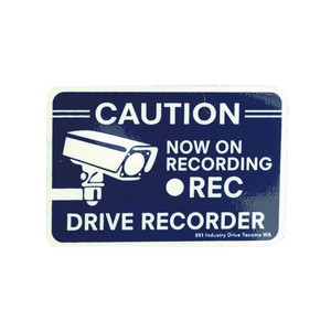 Plate Sticker Drive Recorder Signboard American
