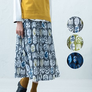 A/W Pencil Repeating Pattern Gather Skirt