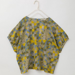 S/S peniphass Geometric Design Print Blouse