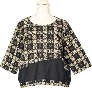 Meisen Print Long Sleeve Blouse