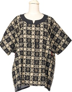 Meisen Print Short Sleeve Blouse