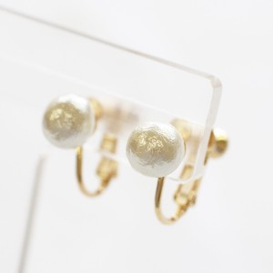 Cotton Pearl Direct Connection Earring 8mm