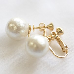 Cotton Pearl Direct Connection Earring 10mm