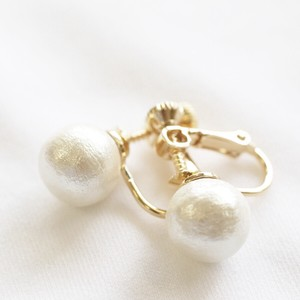 Cotton Pearl Direct Connection Earring 2mm