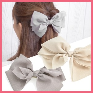 Natural Big Ribbon Barrette