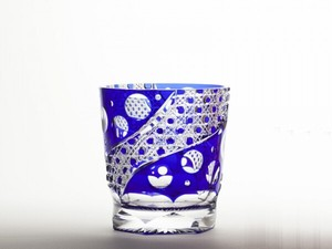 Edo-kiriko Cut Glass Octagon Old Rock Glass Distilled Spirit