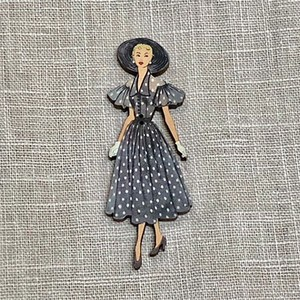 France Wooden Button Atelier Dot Dress Ladies