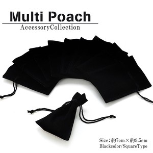 Pierced Earring Earring Ring Black Pouch Accessory Pouch Jewelry Pouch