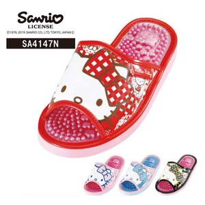 A4 Sanrio Hello Kitty Checkered Ribbon Healthy Sandal Assort 12 Pairs