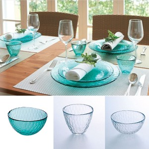 Hand Maid Dish Bowl Clear Green