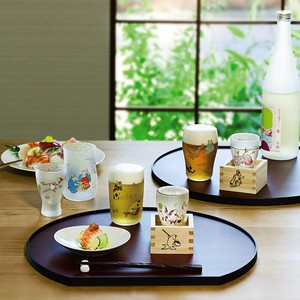 Made in Japan ANIMALS Square Liquor Glass Fancy Box