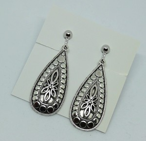 Metal Silver Color Design Earring