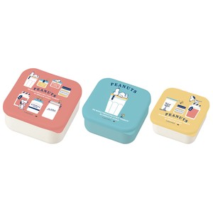 【7月下旬入荷予定】PEANUTS LUNCH SERIES KITCHEN SEALED LUNCH BOX 3P