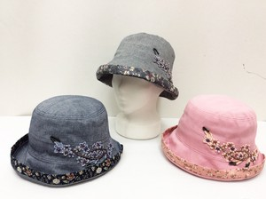 Floral Pattern Switch Embroidery Hat